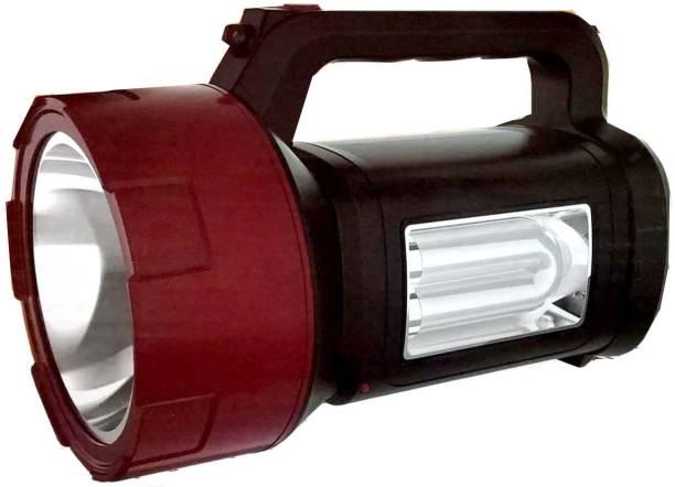 Rocklight 3 in 1 Jumbo Led Laser 50 Watts Rechargeable Torch+Tube Emergency Light+Blinker Signal Feature Torch Emergency Light