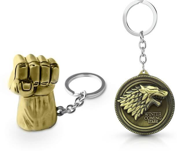 Gold Era Hulk Keychain & Game of Thrones Keychain Key Chain