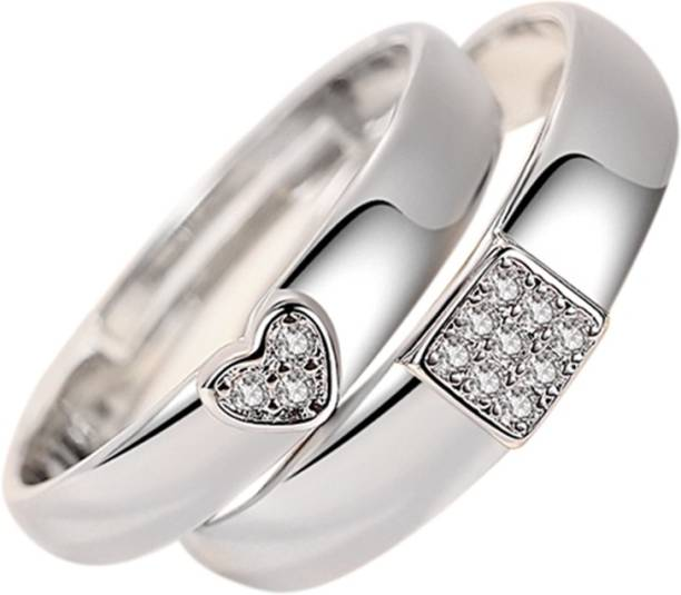 ed9fb1d566 The Bling Stores Ultimate His and Her Promise Couple Rings Alloy Silver  Plated Ring Set