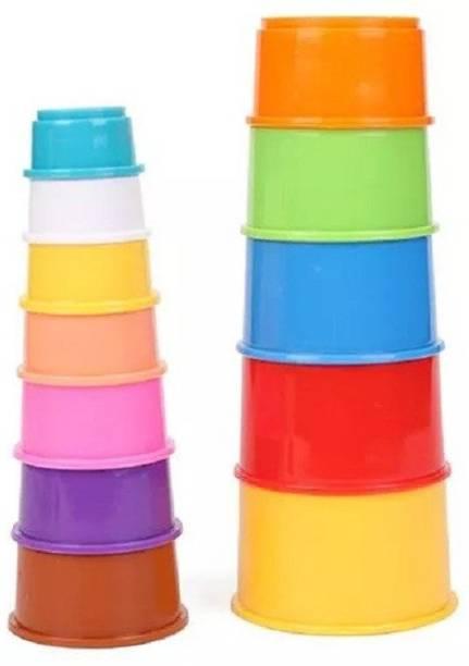 Nabhya Build Up Beakers Preschool Toy Educational Building Blocks 12 Piece