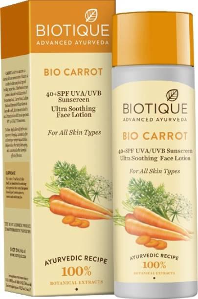 BIOTIQUE Bio Carrot Sunscreen Lotion - SPF 40 PA+