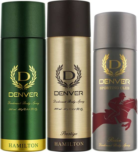 DENVER Hamilton, Prestige and Rider Combo Deodorant Spray  -  For Men