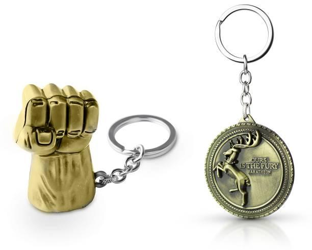 Gold Era Hulk Keychain & Winter is Coming Game of Thrones Keychain Key Chain