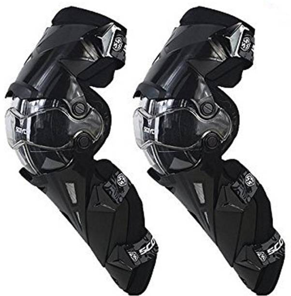Spidy moto K12 Unisex Knee Guard Protector Kneepad For Motorcycle Racing, Riding, Mountain Bikers Free Size Knee Guard Free Black