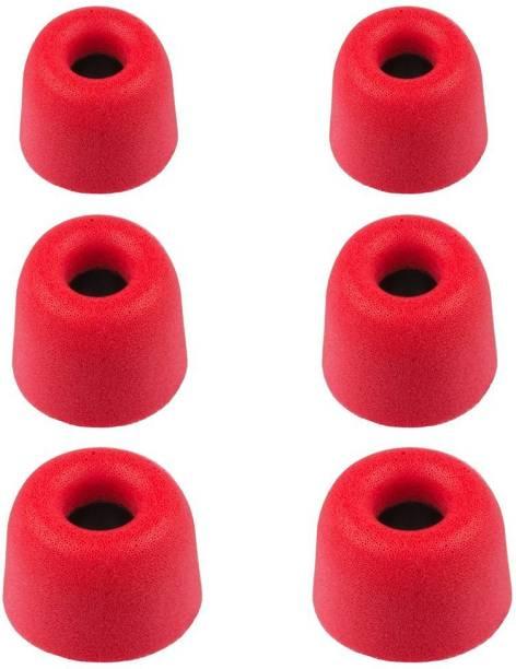 b1916c50aa6 YTM 6 Pcs (3 Pair) Red Foam Superior Quality Original Memory Foam Silicone  Rubber