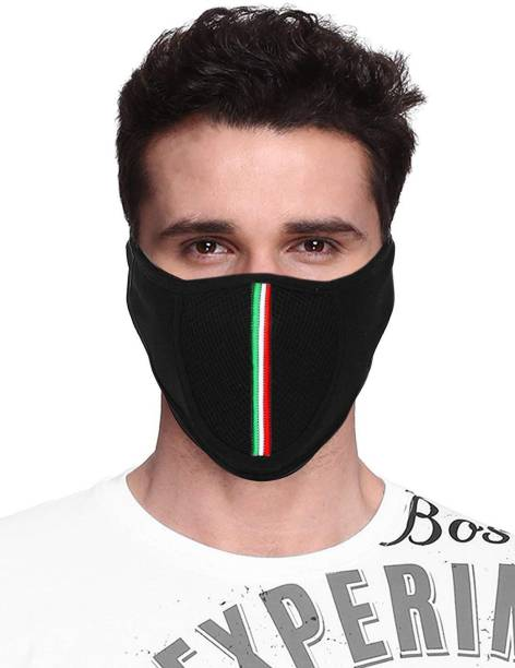 Acceptive Black Bike Face Mask for Men & Women