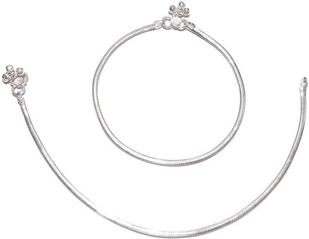 d1334f7191f06 Silver Anklets - Buy Silver Anklets Online at Best Prices In India ...