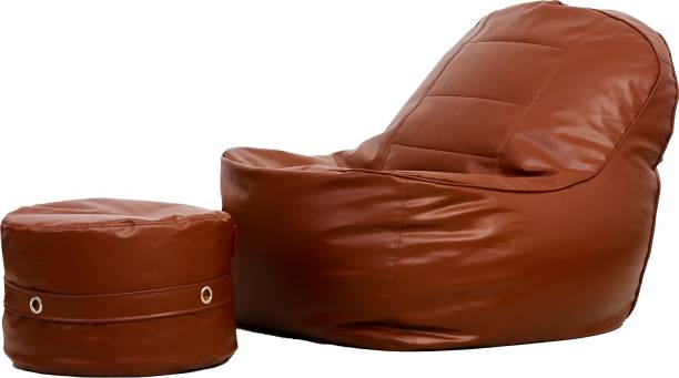 Couchette XXXL Chair Bean Bag Cover  (Without Beans)
