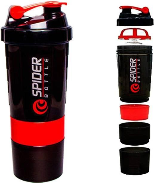 Quinergys ® Spider Protein Shaker Bottle for Gym - 500ml - Red 600 ml Shaker