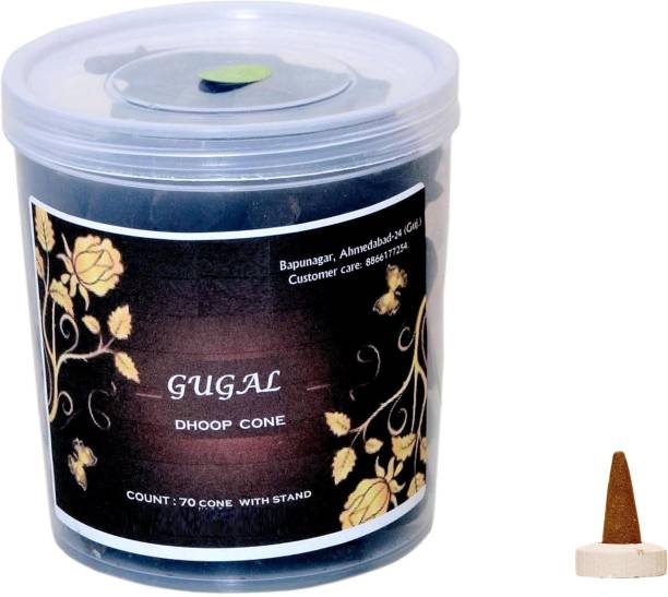 BETALA FRAGRANCE Guggal Dhoop Cones Stick 250 Gram With Dhup Batti Stand In Box Best For Pooja Use Dhoop