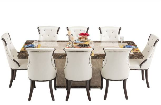 Durian SIBERIAN/A Stone 8 Seater Dining Set