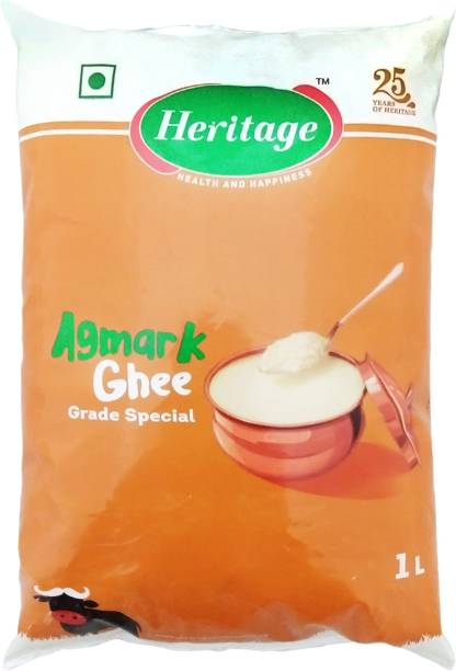 Heritage Agmark Ghee 1 L Pouch