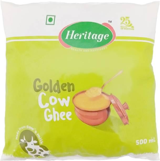 Heritage Golden Cow Ghee 500 ml Pouch