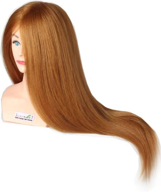 Ritzkart 33inch 320 gram hair weight Human  Dummy For  Styling Practice Spl For Dye/Tong/Braiding Hair Extension