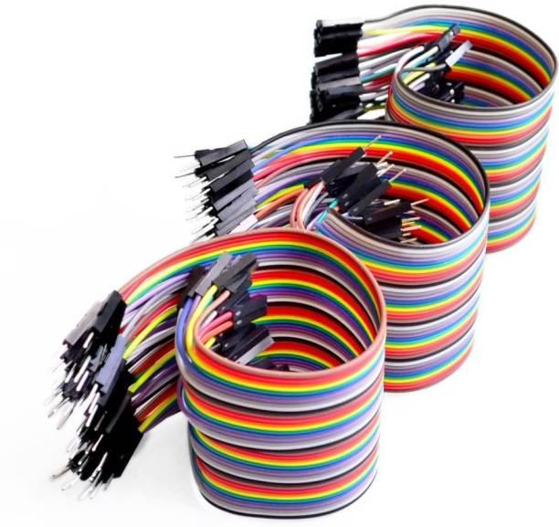 TechWiz 120 Pieces Jumper Wire Set 40 M-M + 40 M-F + 40 F-F Wires