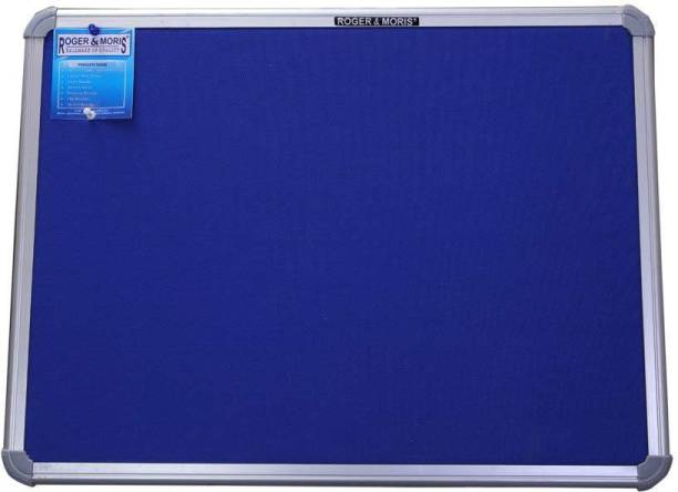 Roger & Moris Aluminium Framed Foam Cushioned Blue Fabric Notice Board