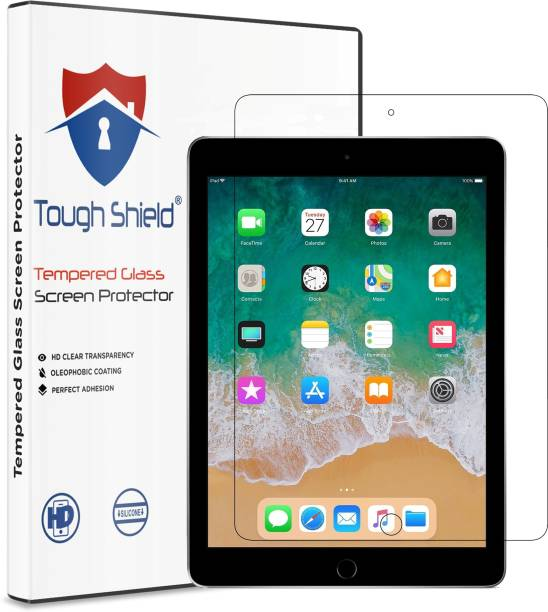 TOUGH SHIELD Tempered Glass Guard for Apple iPad Pro 10.5 (2017) (10.5 Inch Screen Size (MQDY2HN/A)