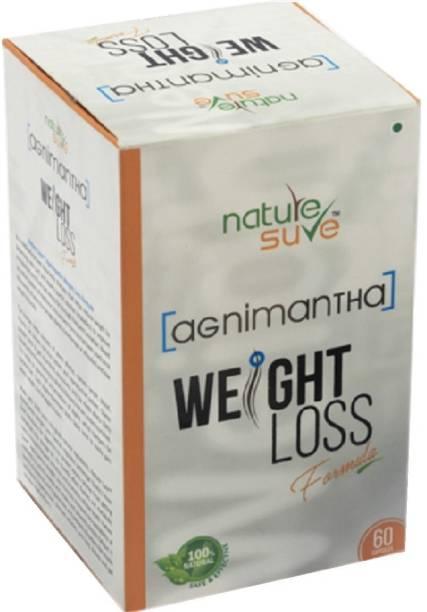 Nature Sure Agnimantha Weight Loss Formula for Men & Women-1 Pack (60 Capsules)