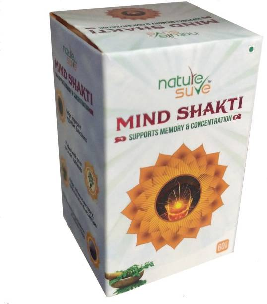 Nature Sure Mind Shakti Tablets with Natural Herbs-1 Pack (60 Tablets)
