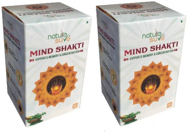 Nature Sure Mind Shakti Tablets with Natural Herbs-2 Pack (2 x 60 Tablets)