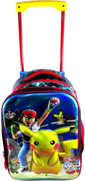 ehuntz Pokemon 5D embossed Trolley/Travel Bag school Bag (9 to 17 years) (EH1339) Waterproof Trolley