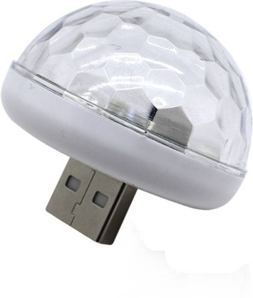 AutoBizarre Mini Disco DJ Lamp Light Multi-Color Sound Activated Music Controlled Sensor Lights USB Powered Car Fancy Lights