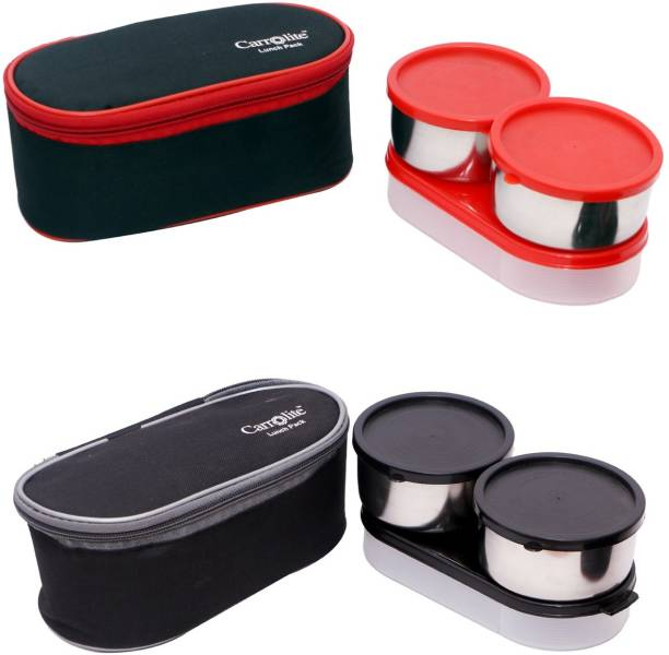Carrolite Combo Black Rose 3 in 1 Black-Red+Midnight 3in1 Lunchbox 6 Containers Lunch Box