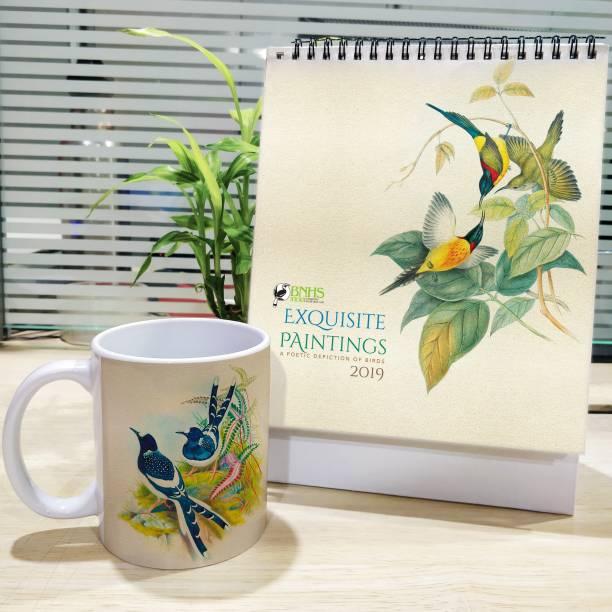 HOT MUGGS Spotted Forktail -Calendar Paper, Ceramic Coffee Mug