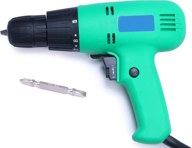 TOOLBUX Alloy Steel Reversible Electric Screwdriver Drill Machine with Torque Setting Facility and S2 65mm Hex Shank PH2, 10mm Drywall Screw Gun