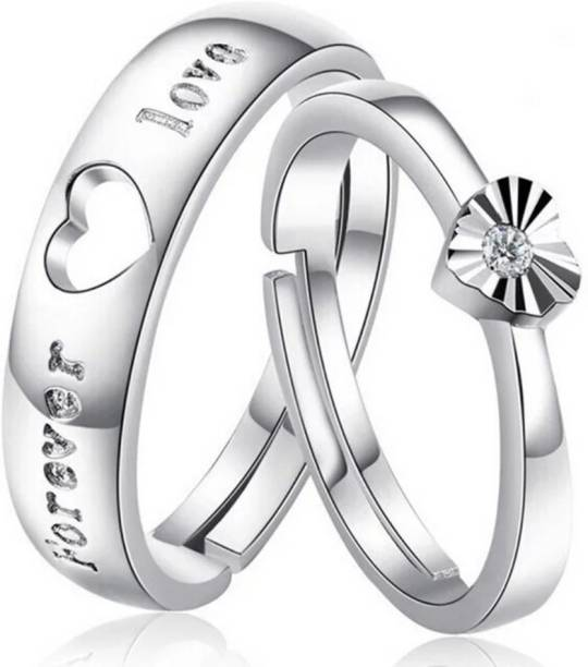 2679433ed6 BlueShine Heart shape & forever love adjustable couple ring for your loved  one & Valentine,