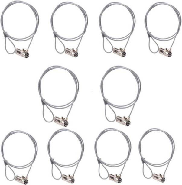 FU4 SET OF 10 High Quality Notebook Laptop Security Lock HQ23 (Silver) LLF4
