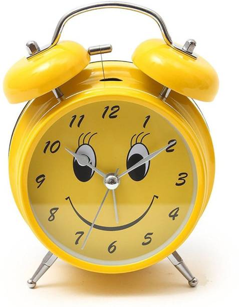 paramhans Analog Yellow Clock