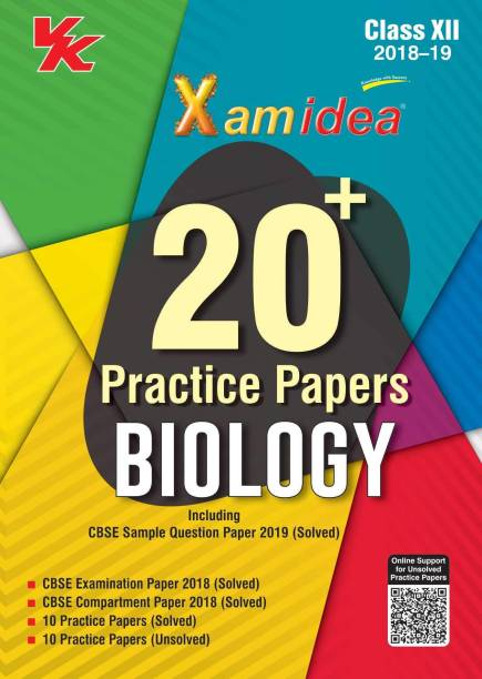 Xam Idea 20 Plus Sample Papers Biology Class 12 for 2019 Exam