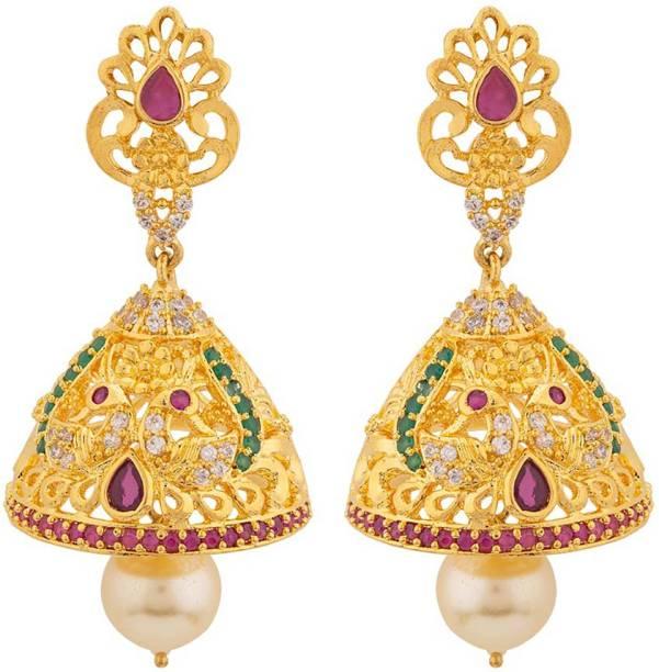 35fdc7d13b Ruby Earrings - Buy Ruby Earrings online at Best Prices in India ...