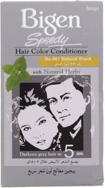 Bigen Speedy Hair Color Conditioner No. 881 Natural Black Hair Color , Natural Black
