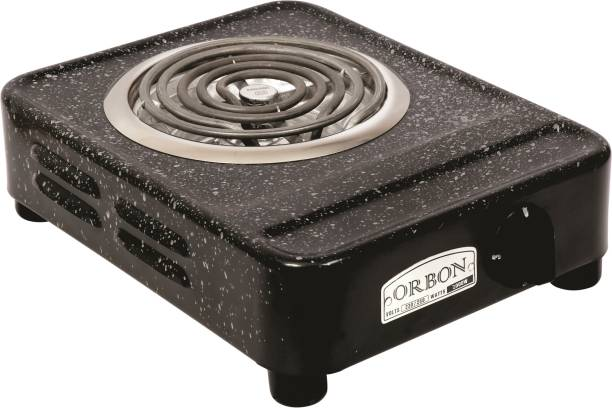 Orbon 2000 Watt Big Rectangular Marble Vitreous Black G Coil Stove Hot Plate Induction Cooktop Electric Cooking Heater