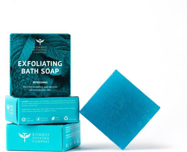 BOMBAY SHAVING COMPANY Menthol Refreshing Bath Soap, 100g (Pack of 3)