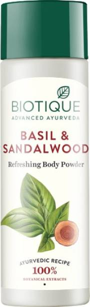 BIOTIQUE Bio Basil and Sandalwood Refreshing Body Powder