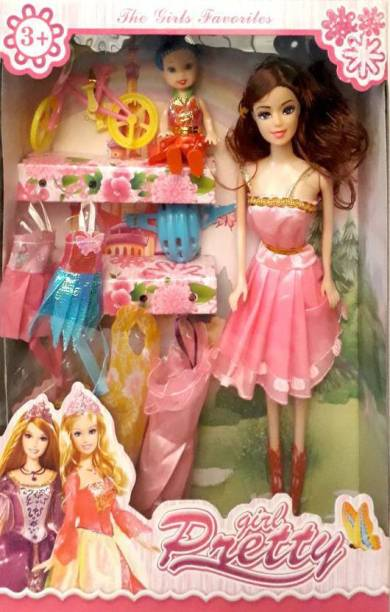 df9df53a6f11 PS AAKRITI Fashionable Princess Dolls Collection Pretty Girl Doll Set  (Multicolor)