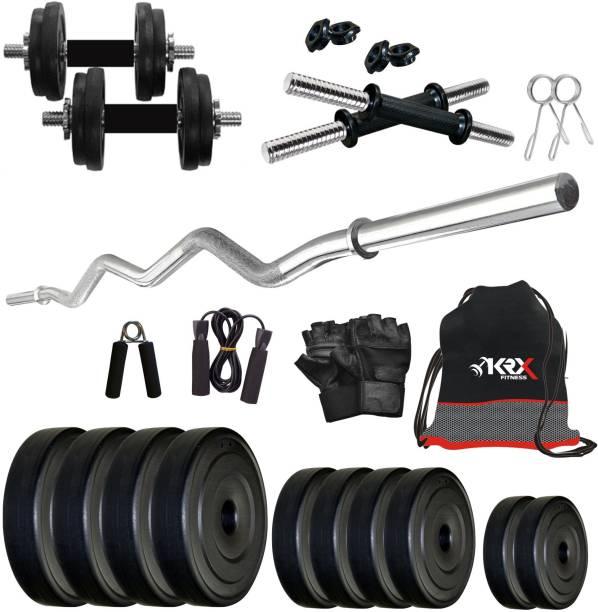 KRX 20 kg PVC COMBO 3 -SL Home Gym Combo