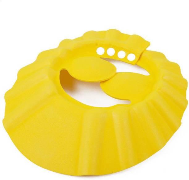 Lycus Adjustable Soft Baby Shower Cap Kids Shampoo Shield Wash Hair Hat Bath Protect-Multi Color