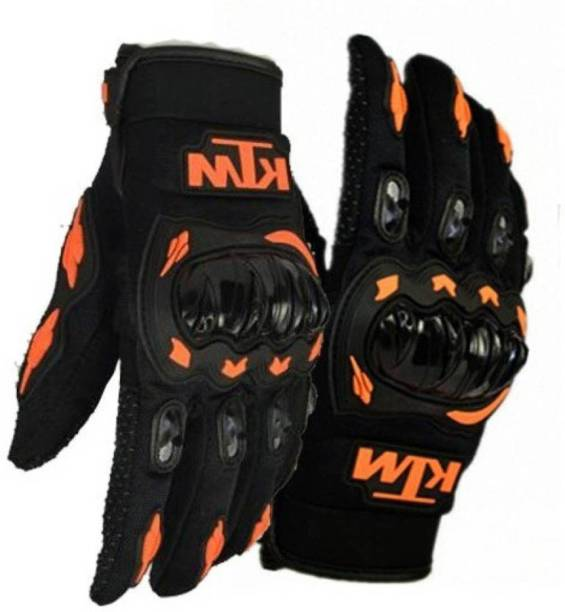 KTM Full Black-orange M Riding Gloves