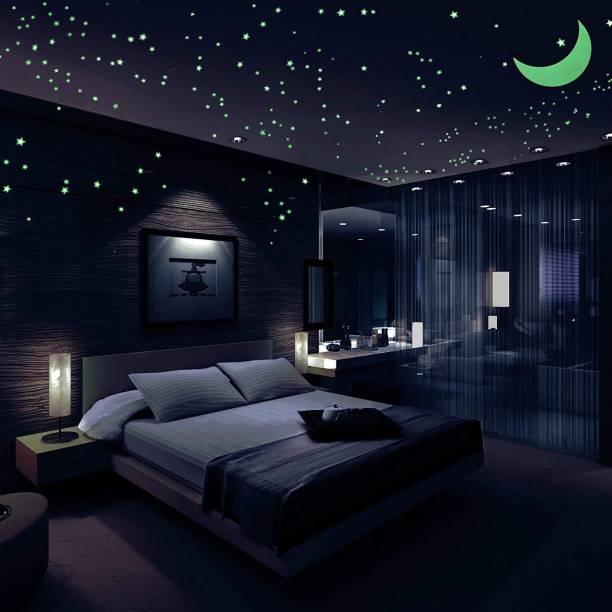 DreamKraft Medium Glow in The Dark Galaxy of Stars with Moon Radium Night