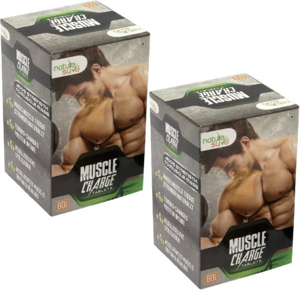 Nature Sure Muscle Charge Tablets for Men – 2 Packs (2 x 60 Tablets)