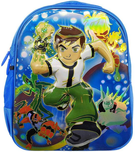 RBRN Kids Ben 10 3D Effect Lightweight Suitable Upto 3-5 Years Waterproof School Bag