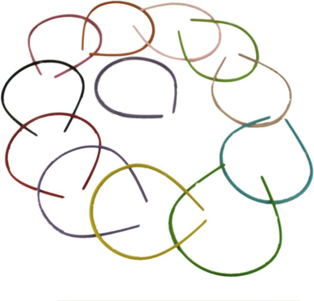 LOT OF 10 PIECES--METAL HAIR CLIP,MIXED COLORED PLASTIC COVER