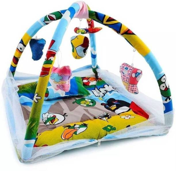 babique Cotton Infants baby bed mosquito net mattress angry bird (cotton, Multicolor) Mosquito Net
