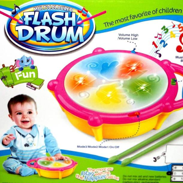 Toys spot Toys spot Flash Drum atrractive music toy
