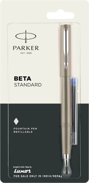 PARKER beta std ct l.grey+1 ink cart free Fountain Pen