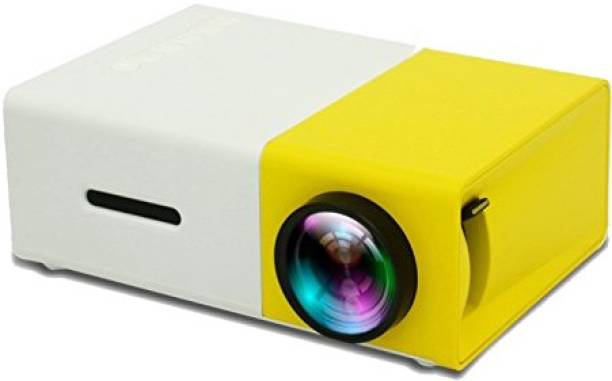 CALLIE Mini Portable Full HD High Resolution LED Projector 600 lm LED Corded Mobiles Portable Projector